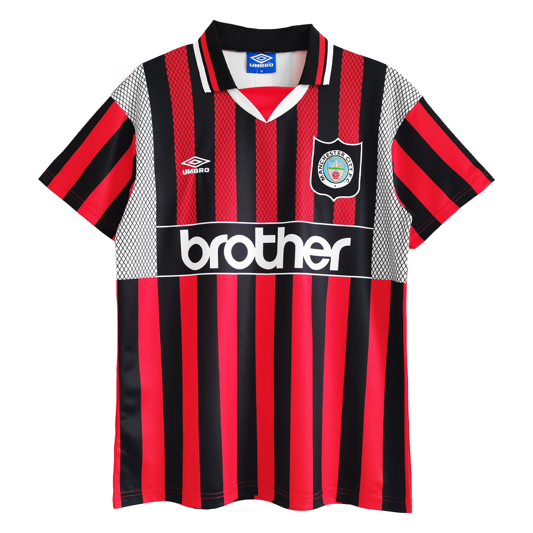 Retro Manchester City Away Jersey 1994/96 By Umbro