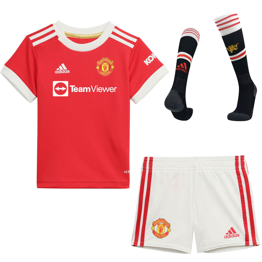Manchester United Home Full Kit 2021/22 By Adidas Kids