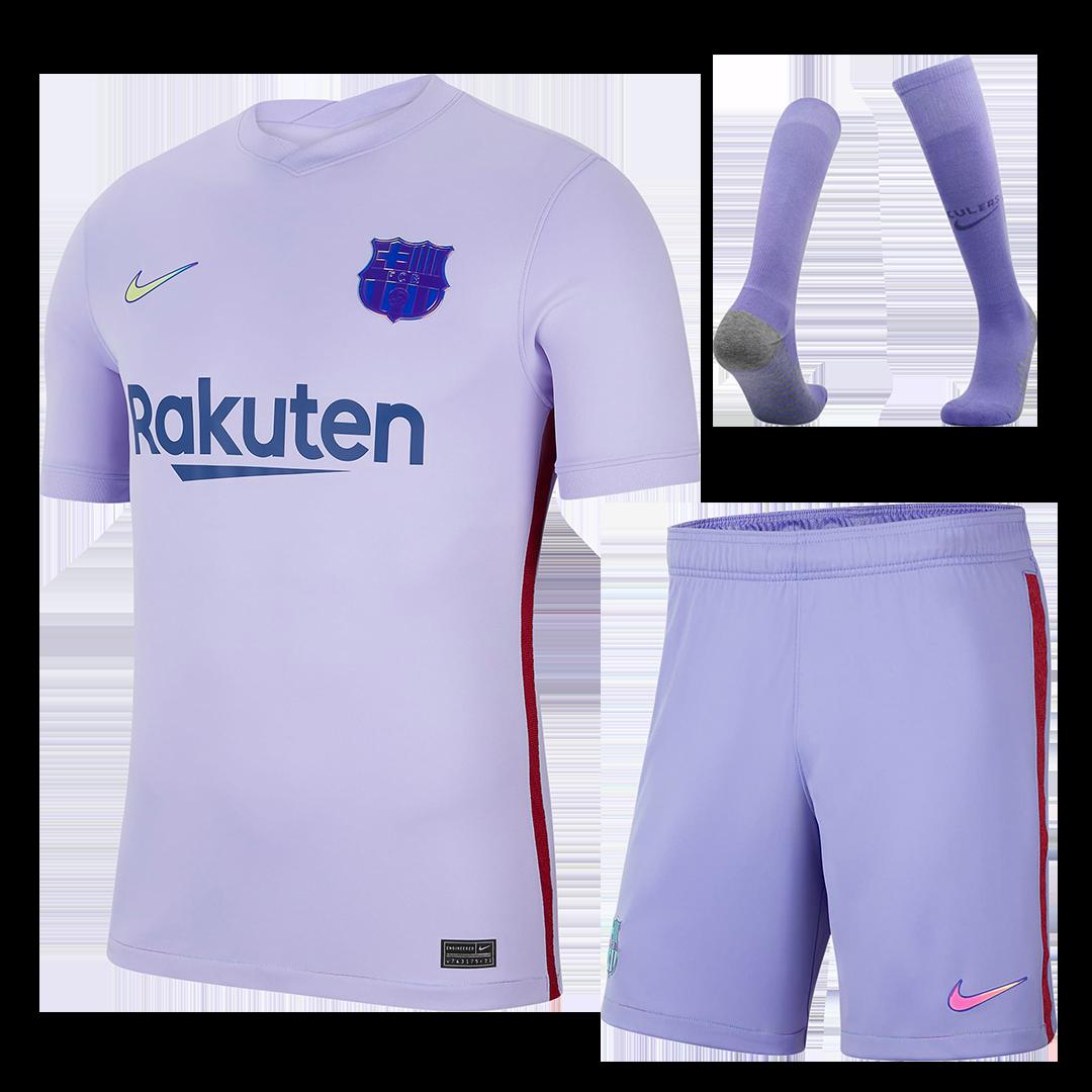 Barcelona Away Full Kit 2021/22 By Nike
