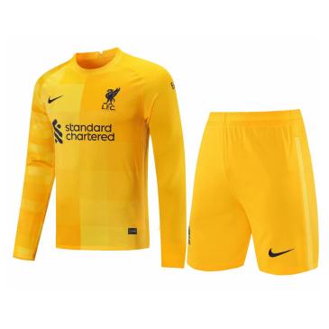 Liverpool Goalkeeper Long Sleeve Kit 2021/22 By Nike