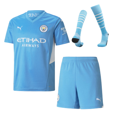 Manchester City Home Full Kit 2021/22 By Puma Kids