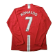 Retro RONALDO #7 Manchester United Home Long Sleeve Jersey 2007/08 By Nike