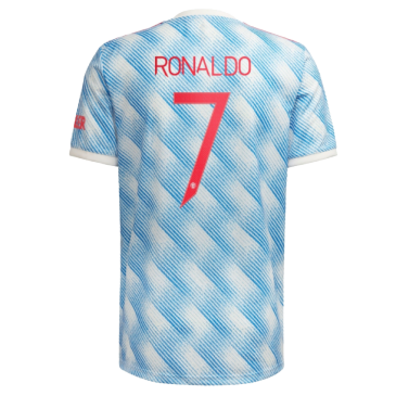 Replica RONALDO #7 Manchester United Away Jersey 2021/22 By Adidas-UCL Edition