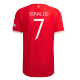 Authentic RONALDO #7 Manchester United Home Jersey 2021/22 By Adidas-UCL Edition