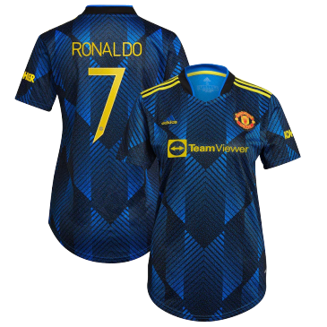 Replica RONALDO #7 Manchester United Third Away Jersey 2021/22 By Adidas Women-UCL Edition