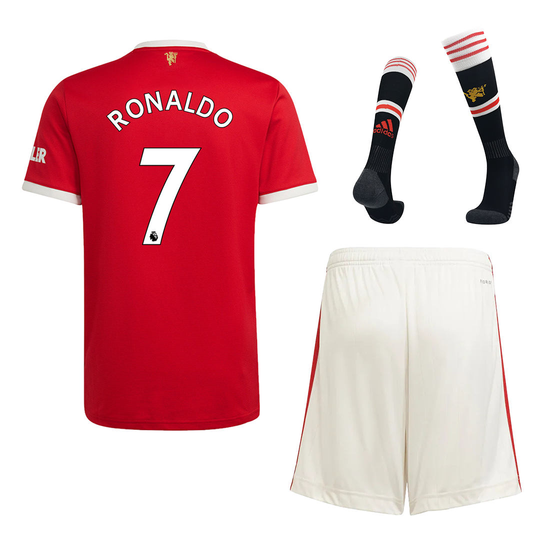 RONALDO #7 Manchester United Home Kit 2021/22 By Adidas