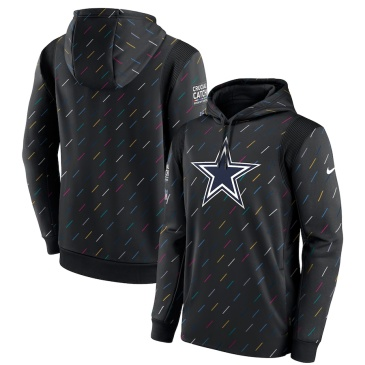 NFL Dallas Cowboys Crucial Catch Therma Pullover Hoodie 2021